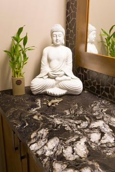 Often overlooked during home renovations, give some love your main floor bathroom – it's a good way to make a first-impression when hosting company Bathroom Renovations, Powder Room, Construction, Sculpture, Statue, Building, Powder Rooms, Sculpting, Sculptures