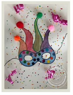 Diy Art, Decoration Creche, Carnival Crafts, Art Postal, Diy Masque, Crafts For Kids, Arts And Crafts, Busy Boxes, Craft Party
