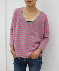 …a hint of summer is an incredibly light weight, very comfy tee,   - 24 stitches and 35 rows = 10 cm