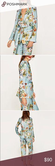 ZARA NWT Floral Blazer Jacket Emily Ratajkowski New with tags Zara Jackets & Coats Blazers