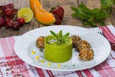 Retete Culinare - Chiftelute cu pui si legume la cuptor, cu piure de mazare