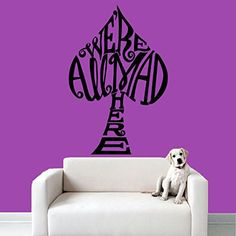 Wall Decal Vinyl Sticker Decals Art Decor Design Sign We are All Mad Here Alice in Wonderland Words Quote Dorm Bedroom Fashion r611 * To view further for this item, visit the image link.