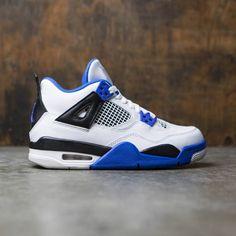 e0872e813123 Air Jordan IV Retro (GS) Big Kids (white   game royal-black)