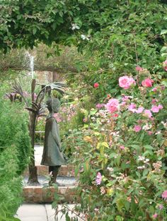 Statue / Gardens at Burton Agnes Hall, East Yorkshire