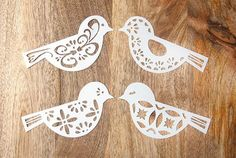 Items similar to Bird SVG Cutting Files for Cricut, Silhouette/ DXF / Ornate Tribal Bird for Scrapbooking, Vinyl Transfer, Card Making on Etsy Paper Cutting Machine, Different Birds, Bird Theme, Paper Stars, Pop Up Cards, Bird Design, Bird Art, Cutting Files, Coloring Pages