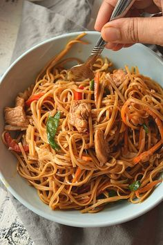 Delicious, Easy and Better Than Takeout Ultimate Chicken Lo Mein Recipe! You love Asian food or Chinese food takeout then this recipe is calling your name with easy steps and ready under 30 mins! food takeout The Ultimate Chicken Lo Mein Recipe Spicy Chicken Lo Mein Recipe, Chicken Recipes, Recipe Chicken, Vegetable Lo Mein, Hoisin Sauce, Soy Sauce, Chinese Vegetables, Ramen, Asian Recipes