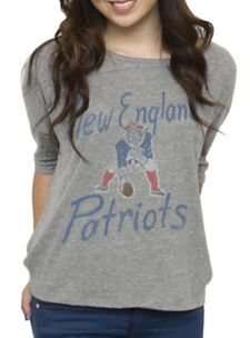 Love this slouchy retro Pats sweatshirt! Super soft and super cute on!