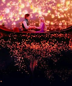 30 Day Disney Challenge Day 15 favorite romantic moment... Of course the lantern release scene! So freaking romantic!