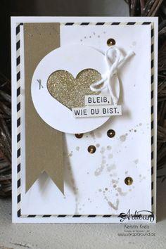 """Stamping & Blogging DT Sketch96 Goldfieber Karte mit Sale-a-bration Stempelset """"Wie du bist"""" und Designerpapier """"Erstausgabe"""""""