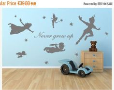 SALE 20% OFF Peter pan wall decal Vinyl mural by Quirkyworks33