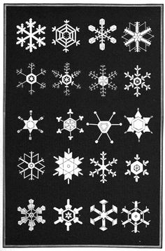 A Diagram of Snowflakes from Snowflakes a Chapter from the Book of Nature