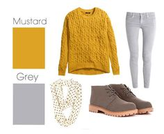 Mustard and gray | 26 Essential Fall Color Palettes You Need To Try