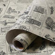 Vinyl Vintage Newspaper Wallpaper Sticker Self Adhesive Contact Paper Wall Decor - Wallpaper - Ideas of Wallpaper Wallpaper Stickers, Self Adhesive Wallpaper, Wall Wallpaper, Pattern Wallpaper, Wall Stickers, Wall Decals, Wallpaper Designs, Wallpaper Roll, Wallpaper Ideas