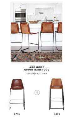 Just to give you an idea of what the leather barstools would look like against white...