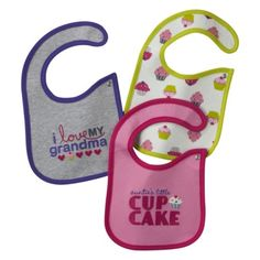 Best bibs ever! JUST ONE YOU  Made by Carters ® Newborn Girls' 3 Pack Assorted Bib Set