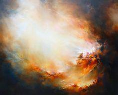 """Zeer grote Canvas Abstract olieverfschilderij """"Toorn"""" door Simon Kenny"""