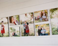 Fabulous display idea of family session. All 16x24s and 11x14s. Love the arrangement.