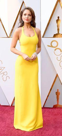 Eiza González in Ralph Lauren - Oscars 2018 Eiza Gonzalez, Red Carpets, Oscars, Yellow Dress, Ralph Lauren, Dresses, Red Rugs, Vestidos, Academy Awards