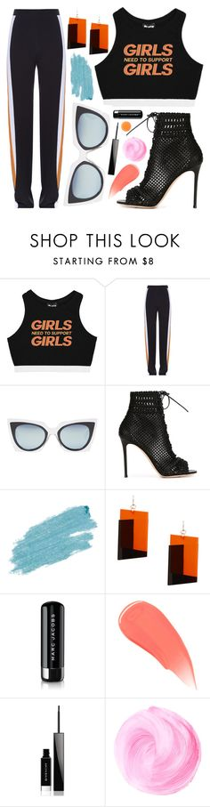 """Empow–HER"" by shortsweetheart ❤ liked on Polyvore featuring Minga, STELLA McCARTNEY, Fendi, Gianvito Rossi, Jane Iredale, MANGO, Marc Jacobs, Burberry, Givenchy and Zelens"
