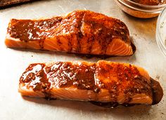 Grilled Chile Salmon with Lime Crema Recipe - CHOW.com