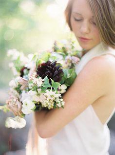 Soft and Delicate Wedding Inspiration via oncewed.com #wedding #bride #modern #springtime #bouquet #marymcleod #dahlia #dogwood #delicate