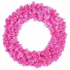Hot Pink Wide Cut Wreath