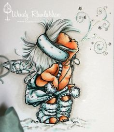 Sugar Pea Designs:  Copics Used:   Skin: E13, E11, E00, E50, E93  Hair: W3, W1, BG10  Clothing: BG75, BG72, BG70