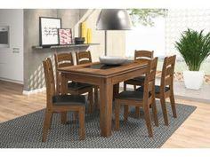 Conjunto de Mesa 6 Cadeiras - Madri Celta Móveis