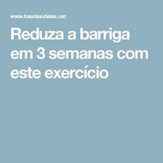 Reduza a barriga em 3 semanas com este exercício