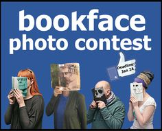"This is a fun idea. ""It's a new year. so put on a new (book) face for our latest and greatest library contest! Here's what you do:Find a book with a face or part of a face on the cover. Library Games, Library Week, Library Book Displays, Teen Library, Library Events, Library Science, Library Activities, Library Lessons, Library Books"
