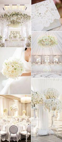 all white fairytale glamour wedding ideas