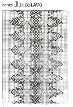 Discover thousands of images about artesanato luso-brasileiro: PONTO JUGOSLAVO Swedish Embroidery, Beaded Embroidery, Hand Embroidery, Embroidery Stitches Tutorial, Embroidery Patterns, Stitch Patterns, Free Swedish Weaving Patterns, Chicken Scratch Embroidery, Monks Cloth