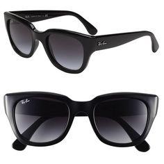 Ray-Ban 52mm Retro Sunglasses ($144) found on Polyvore
