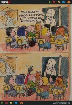 Vtipy související s módou (597) - Diskuse - Módnípeklo.cz Chemistry Humor, Chemistry Class, Class Memes, School Memes, Funny Images, Funny Pictures, Math Puns, Science Memes, Funny Science