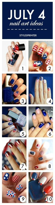 If you are not planning to wear anything patriotic this Independence Day weekend, try upgrading your nails with some patriotic symbols.