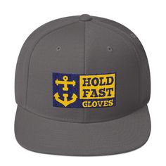 Hold Fast Snapback Hat Navy