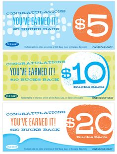 Old Navy Rewards Campaign / © Spitfiregirl Design