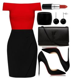 """Untitled #3455"" by natalyasidunova ❤ liked on Polyvore featuring Posh Girl, L.K.Bennett, Christian Louboutin, Yves Saint Laurent, Alexander McQueen, Gem Sensations and MAC Cosmetics"