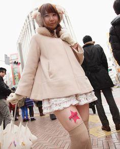 Thigh advertising in Tokyo