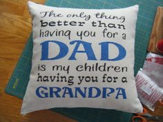 Grandpa Pillow Cover by CountryImage on Etsy