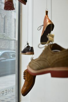 Loakes shoes pop up shop window @ The Study