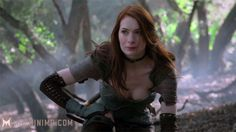 @Felicia Day  - voice, model and actress for Tallis from Dragon Age 2, Veronica Renata Santangelo in Fallout: New Vegas. (She's on Pinterest now!)