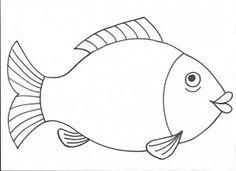 Kapr Ocean Crafts, Fish Crafts, Preschool Colors, Preschool Crafts, Colouring Pages, Coloring Pages For Kids, Line Art Projects, Mosaic Animals, Kids Math Worksheets