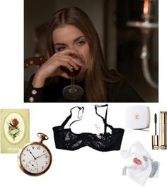 Waiting for a valentine. by lili-rose17 featuring Agent Provocateur ❤ liked on Polyvore Agent Provocateur intimate, $70 / Guerlain mascara / Chanel body cleanser, $69 / Card mailing old Valentine, chromo swallow red flowers, message of…