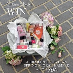 WIN a Crabtree & Evelyn Spring Floral Hamper. To Enter: 1. Follow our Pinterest page www.pinterest.com... 2. Create a board called #celebratewithcrabtreeandevelyn using images that best represent Crabtree & Evelyn spring florals to you. 3. Use the hashtags #celebratewithcrabtreeandevelyn & #crabtreeandevelynaus 4. Feel free to include your favourite floral products from our website www.crabtree-evel.... Competition closes 14th December, winner announced on 18th December.