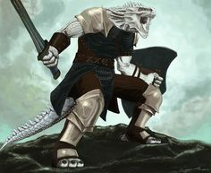 Dragonborn Fighter Warlord White