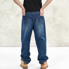 31.02$  Watch now - https://alitems.com/g/1e8d114494b01f4c715516525dc3e8/?i=5&ulp=https%3A%2F%2Fwww.aliexpress.com%2Fitem%2F2017-New-baggy-jeans-pants-mens-Hiphop-loose-skateboard-man-jeans-big-size-30-46%2F32782994008.html - 2017 New baggy jeans pants mens  Hiphop loose skateboard man jeans big size 30-46