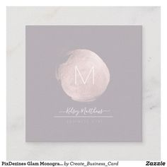 Shop PixDezines Glam Monogram Black+Blush Pink Spot Square Business Card created by Create_Business_Card. Create Business Cards, Cool Business Cards, Business Card Design, Pink And Gold, Blush Pink, Background Diy, Colorful Backgrounds, Stationary, Card Ideas
