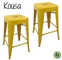 Special Offers - DevLon NorthWest Kousa Metal Tabouret Counter Stools 24 Inch- Set of 2 (Yellow) - In stock & Free Shipping. You can save more money! Check It (May 12 2016 at 04:53PM) >> http://sideboardbuffet.net/devlon-northwest-kousa-metal-tabouret-counter-stools-24-inch-set-of-2-yellow/