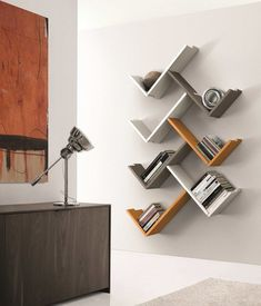Wooden wall shelf ZEDLINE by Euromobil